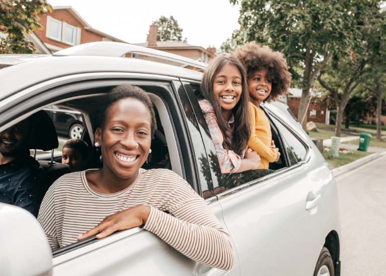 personal automobile insurance family in their car
